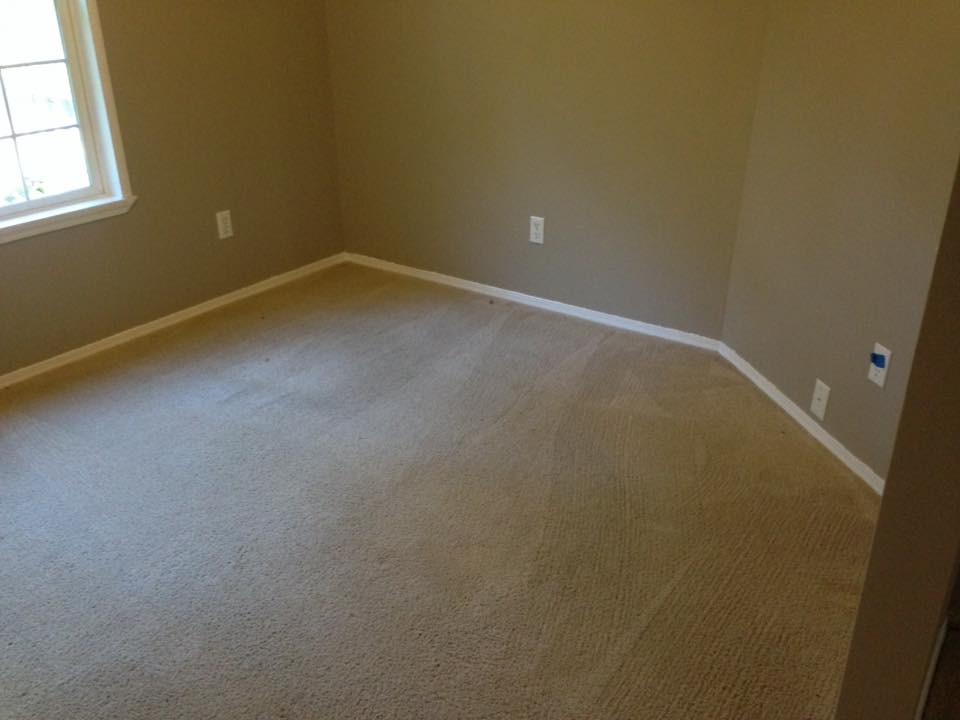 room with clean carpet